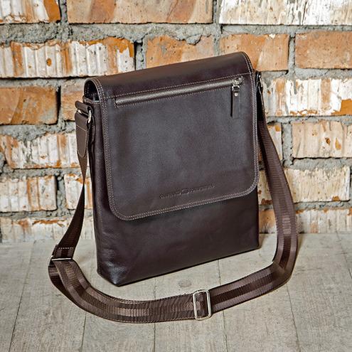 FABIO MARRONE наплечная кожаная сумка GianfrancoBonaventura