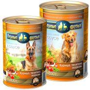 Верные друзья Для взрослых собак всех пород Курица, телятина, морковь (400 г)