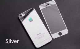 Защитное стекло Silver iPhone 5 , 5S , SE (комплект на обе стороны)