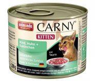 Animonda Carny Kitten Говядина с курицей и кроликом для котят (200 г)