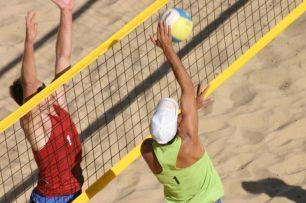 Сетка для пляжного волейбола с тросом (Россия)