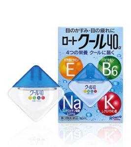 Rohto Cool 40α — витаминизированные и охлаждающие глазные капли