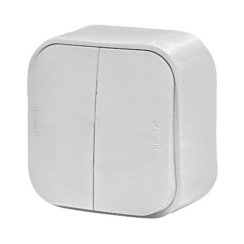 Выключатель 10A 2кл. белый Quteo 782202