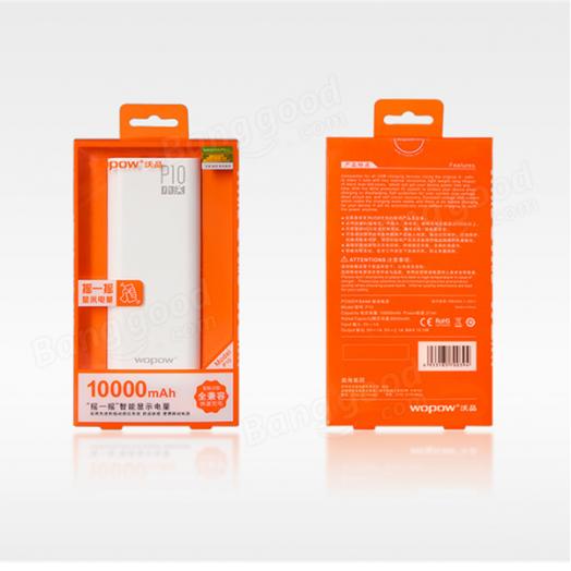 Портативный аккумулятор Wopow P-10 (10 000mA)