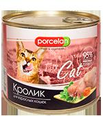 Porcelan 95% мяса Кролик для кошек (525 г)