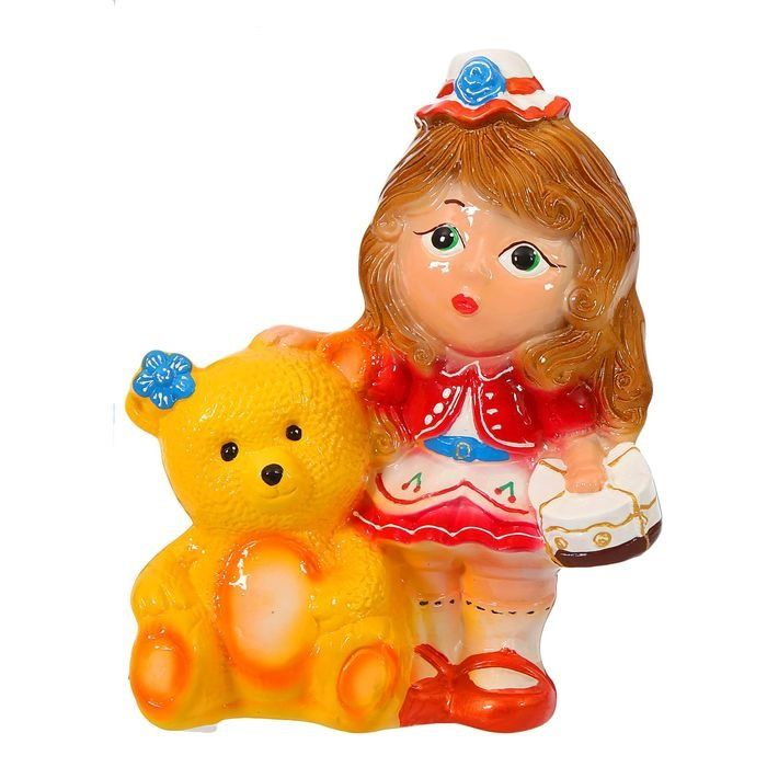 Копилка Девочка с медведем