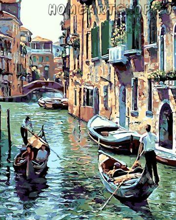 """Раскраска по номерам """"Каналы Венеции"""""""