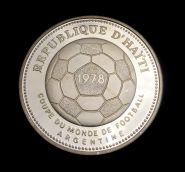 Гаити 50 гурдов 1977 г. ЧМ по футболу Серебро Пруф #62