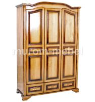 Шкаф 3-х ств. с зеркалом (распашной) (220x135х55)