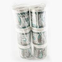 Туалетная бумага 100 $ мини ( 6 шт)