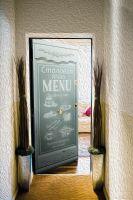 Наклейка на дверь - Столовая 100 в стиле прованс | магазин Интерьерные наклейки