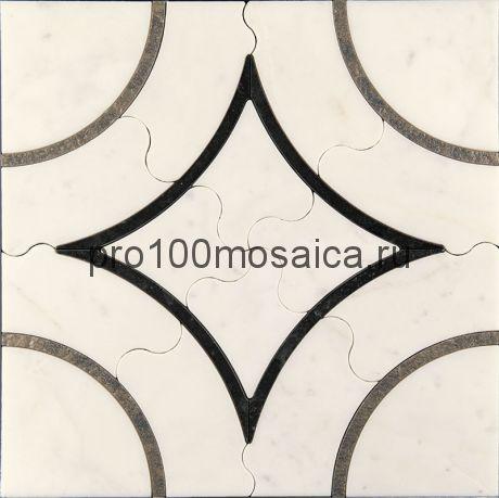 AСM (w)-1/6 Плитка 305*305 серия ALСAMO (white), размер, мм: 305*305*10 (Skalini)