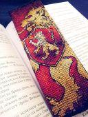 """Схема - закладка для вышивки крестом """"Дом Ланистеров"""". Отшив."""