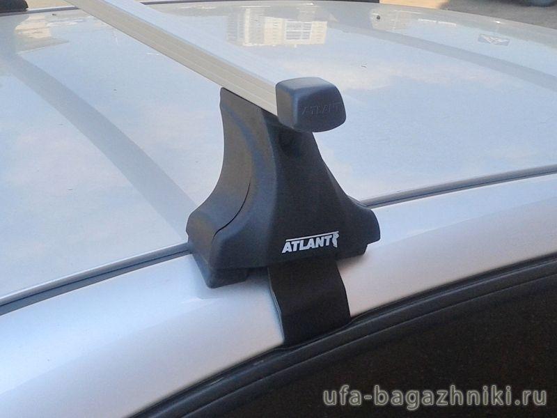 Багажник на крышу Daewoo Gentra, Атлант, прямоугольные дуги