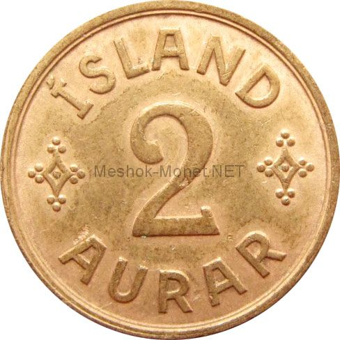Исландия 2 аурар 1940 г.