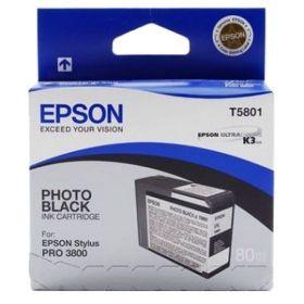 Картридж оригинальный EPSON T5801 черный фото для Stylus Pro 3800 C13T580100