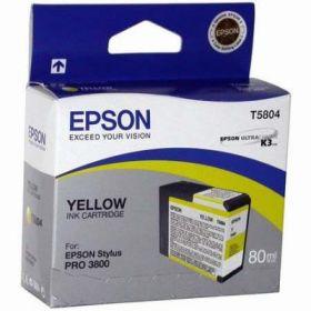 Картридж оригинальный EPSON T5804 желтый для Stylus Pro 3800 C13T580400