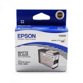 Картридж оригинальный EPSON T5808 черный матовый для Stylus Pro 3800 C13T580800
