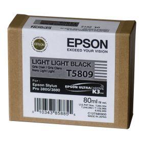 Картридж оригинальный EPSON T5809 светло-серый для Stylus Pro 3800 C13T580900