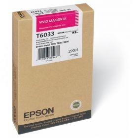 Картридж оригинальный EPSON T6033 пурпурный насыщенный для Stylus Pro 7880/9880 C13T603300