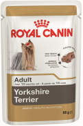 Royal Canin Yorkshire Terrier Adult Влажный корм для собак породы йоркширский терьер старше 10 месяцев (85 г)