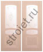 Двери Троя-1 шпон дуб беленый