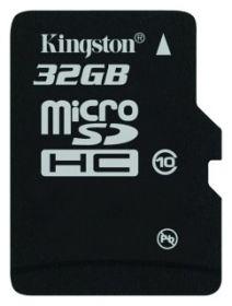 Карта памяти KINGSTON 32GB microSDHC Class10 45Mb/s