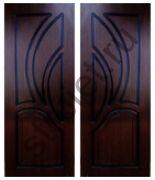 Двери Карелия-2 шпон мореный дуб глухие