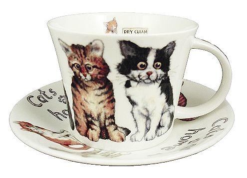 "Чайная пара ""Кошки дома"", 500 мл"