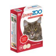 Доктор ZOO Здоровье кожи и шерсти Мультивитаминное лакомство для кошек с таурином и биотином (90 табл.)