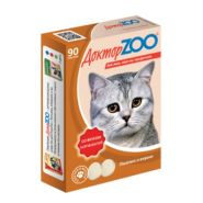 Доктор ZOO Копчености Мультивитаминное лакомство для кошек (90 табл.)