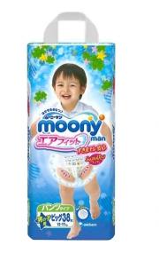 Трусики Moony Big (12-17 кг), 38 шт/уп для мальчиков