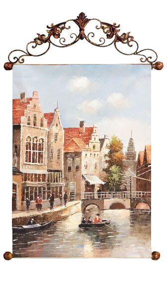 """Картина """"Старый Амстердам"""", 60x90 см"""