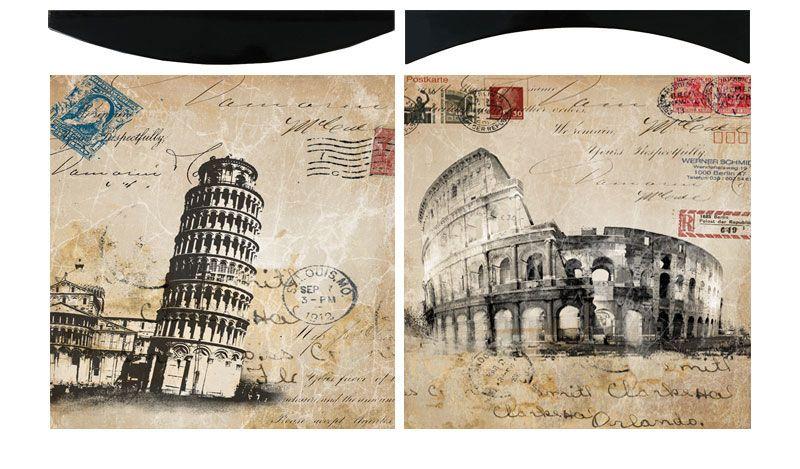 """Картина """"Итальянские каникулы"""" (пара), 38х38 см"""