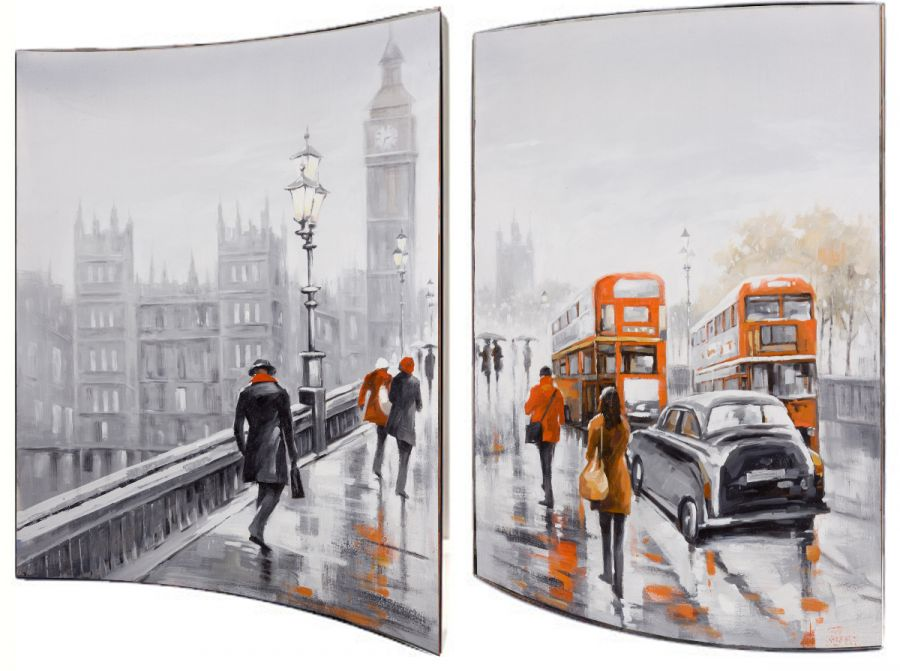 """Картина """"Мосты Лондона"""" (пара), 41x51 см"""