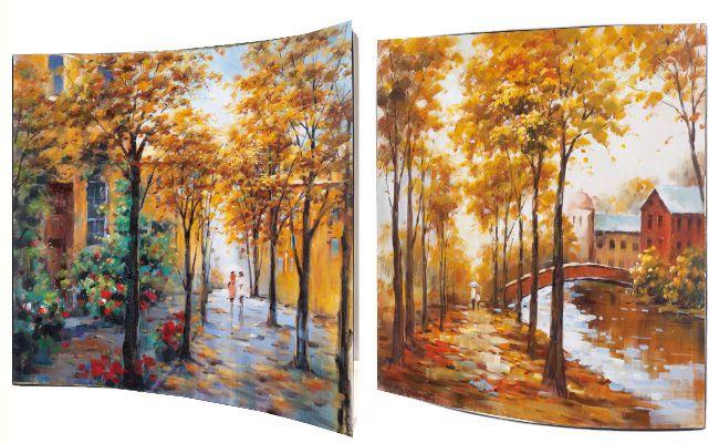 """Картина """"Осенний пейзаж"""" (пара), 58х58 см"""