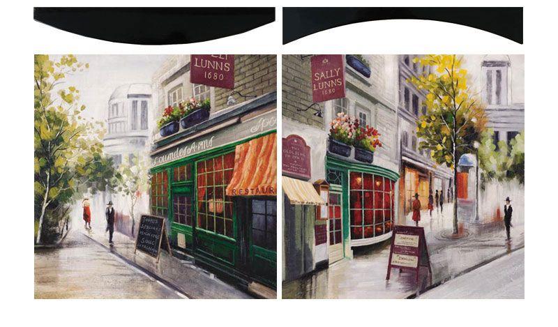 "Картина ""Парижские Кафе"" (пара), 58х58 см"