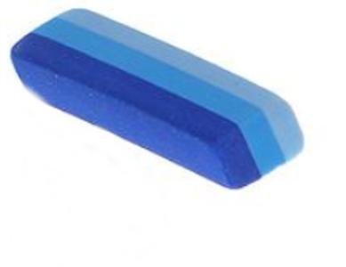 Ластик прямоугольный синие полоски