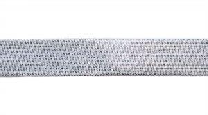 `Косая бейка, ширина 15 мм, цвет: серебро