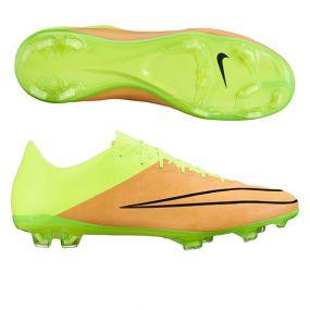 Nike Mercurial Vapor X Leather FG SR золотисто-салатовые