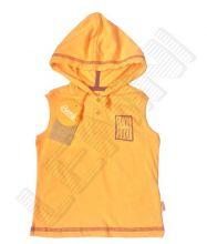 Фуфайка (футболка) с капюшоном, без рукавов, оранжевая
