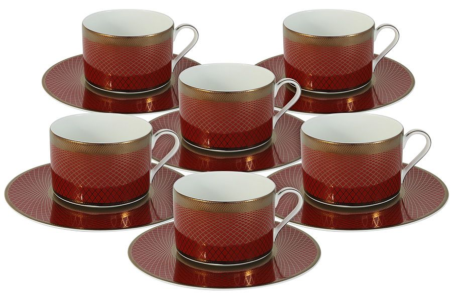"Чайный набор на 6 персон ""Кармен"", 12 пр., 0.25 л"