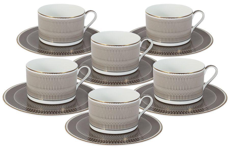 """Чайный набор на 6 персон """"Мокко"""", 12 пр., 0.25 л"""