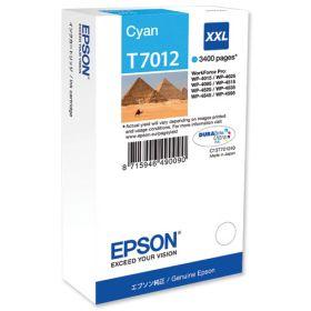 Картридж оригинальный EPSON T7012 голубой экстраповышенной емкости для WP-4015/4095/4515/4595 C13T70124010