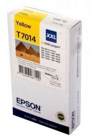 Картридж оригинальный EPSON T7014 желтый экстраповышенной емкости для WP-4015/4095/4515/4595 C13T70144010