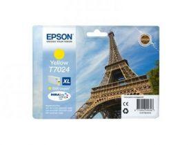 Картридж оригинальный EPSON T7024 желтый повышенной емкости для WP-4015/4095/4515/4595 C13T70244010