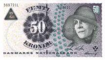 Банкнота Дания 50 крон 2002 год