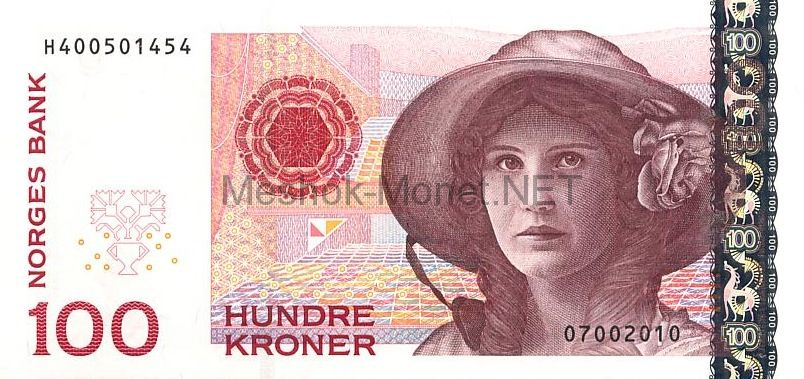 Банкнота Норвегия 100 крон 2010 год