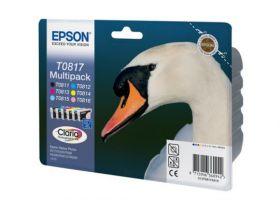 Набор оригинальных картриджей EPSON T0817 повышенной емкости для R270/RX590/T50/TX650/1410 (6 цветов) C13T11174A10/Т08174А