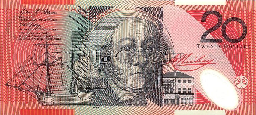 Банкнота Австралия 20 долларов 2002 - 2007 год